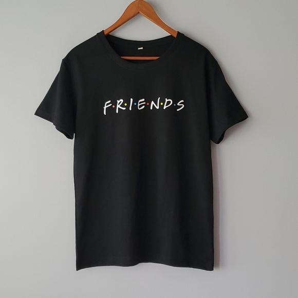 Friends Black Short Sleeve  100% Cotton Tee Shirt